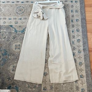 HM belted cropped ankle pants